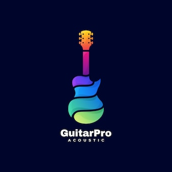 Logo  guitar pro gradient colorful style.