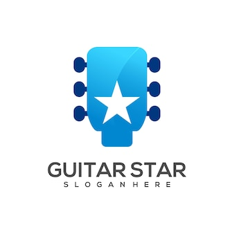 Logo guitar with star gradient