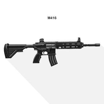 The logo of a gun  m416 assault rifle