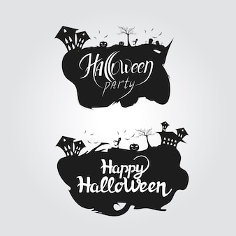Logo halloween party and happy halloween