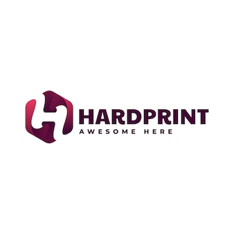 Логотип hardprint градиент красочный стиль
