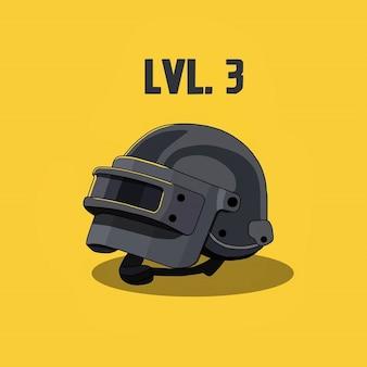 Logo of a helmet level 3  from battlegrounds game
