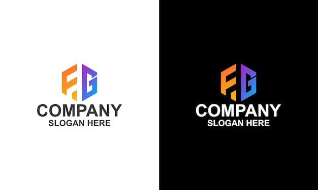 Logo hexagon letter fg