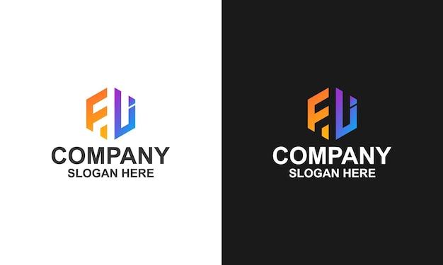 Logo hexagon letter fl
