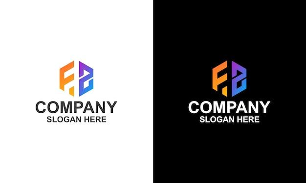 Logo hexagon letter fz
