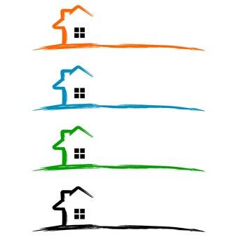 Недвижимость logo, home logo