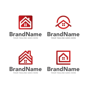 Logo home real estate template