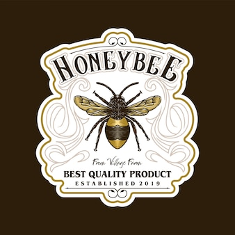 Logo for honey products or honey bee farms