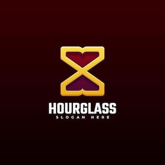 Logo hour glass line art style.