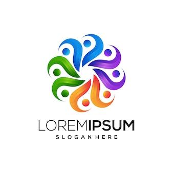 Logo icon education colorful