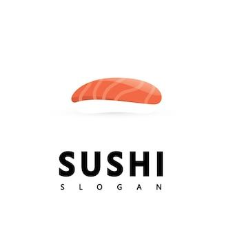Logo icon vector icon style illustration bar or shop, sushi,onigiri salmon roll, isolated modern object