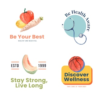 Logo or icon with world mental health day concept design