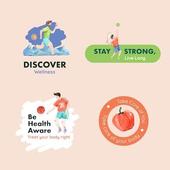 Logo o icona con il concept design della giornata mondiale della salute mentale