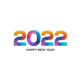 Логотип иллюстрации 2022 красочный градиент