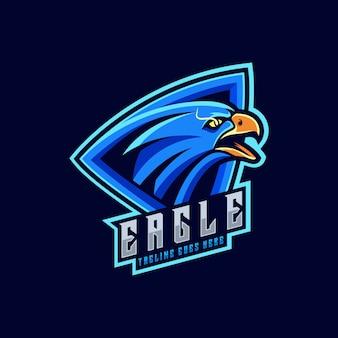 Логотип иллюстрация angry eagle спортивный стиль