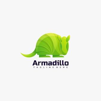 Логотип иллюстрации армадилло градиентом красочный стиль