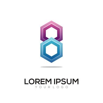 Logo illustration arrow gradient colorful style