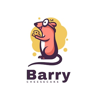 Logo illustration barry simple mascot style.
