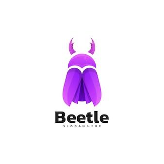 Логотип иллюстрация жук градиент красочный стиль.