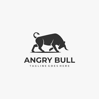 Логотип иллюстрация бык силуэт