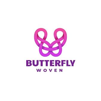 Логотип иллюстрация бабочки градиентом красочный стиль