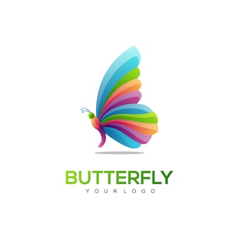 Logo illustration butterfly gradient colorful style