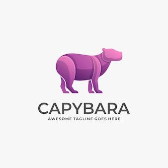 Logo illustration capybara gradient colorful