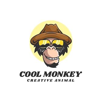 ロゴイラストクールな猿のマスコット漫画スタイル