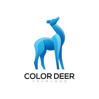 ロゴイラスト鹿カラフルなスタイル