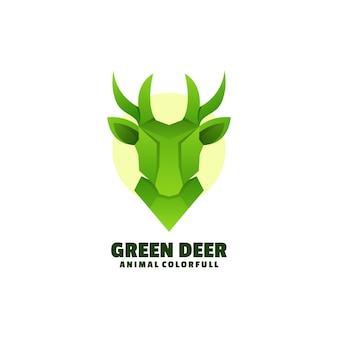 Logo illustration deer gradient colorful style.