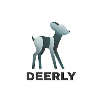 Логотип иллюстрация олень градиент красочный стиль.