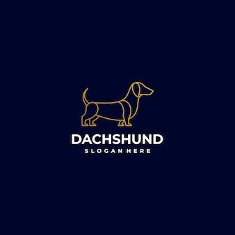 Logo illustration dog line art style.