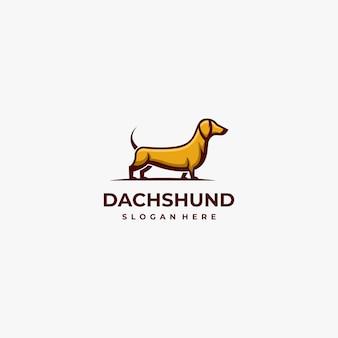 Logo illustration dog mascot cartoon style.