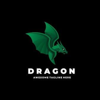 Логотип иллюстрация дракон градиент красочный стиль.
