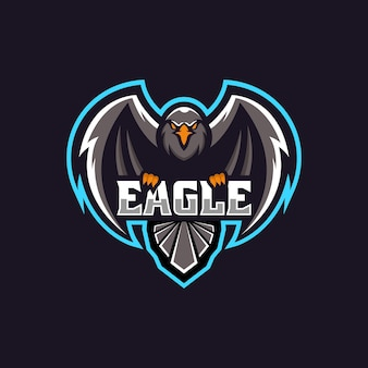 Logo illustration eagle e sport and sport style