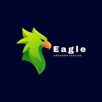 Логотип иллюстрация eagle gradient красочный стиль.