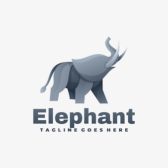 Logo illustration elephant gradient colorful style.