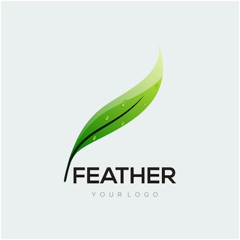 Logo illustration feather gradient colorful style