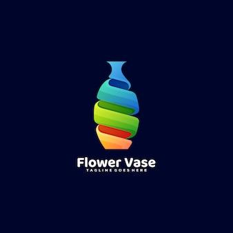 ロゴイラスト花瓶グラデーションカラフルなスタイル。