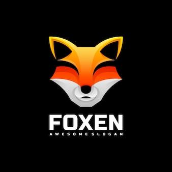 Logo illustration fox gradient colorful style.