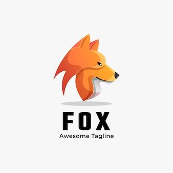 ロゴイラストフォックスグラデーションカラフルなスタイル。