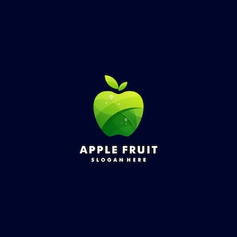 Logo illustration fresh apple gradient colorful style.