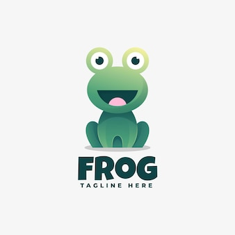 Logo illustration frog gradient colorful style.
