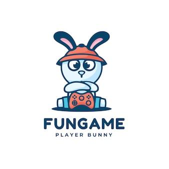 Логотип иллюстрация веселая игра талисман мультяшном стиле.