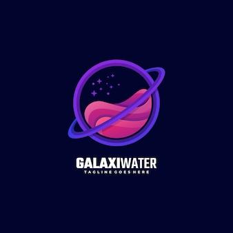 Logo illustration galaxy gradient colorful style.