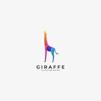 Logo illustration giraffe gradient colorful style.