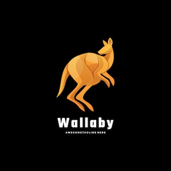 Logo illustration kangaroo gradient colorful style