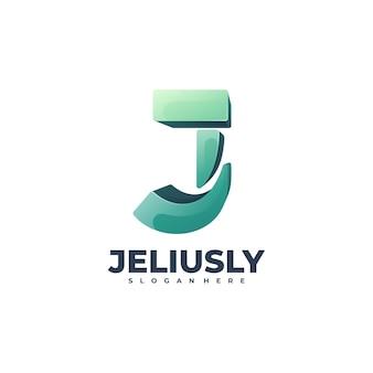 Logo illustration letter gradient colorful style.