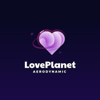 로고 그림 사랑 행성 그라데이션 화려한 스타일