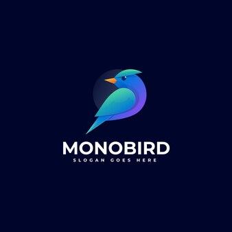 Иллюстрация логотипа моноптица градиентом красочный стиль